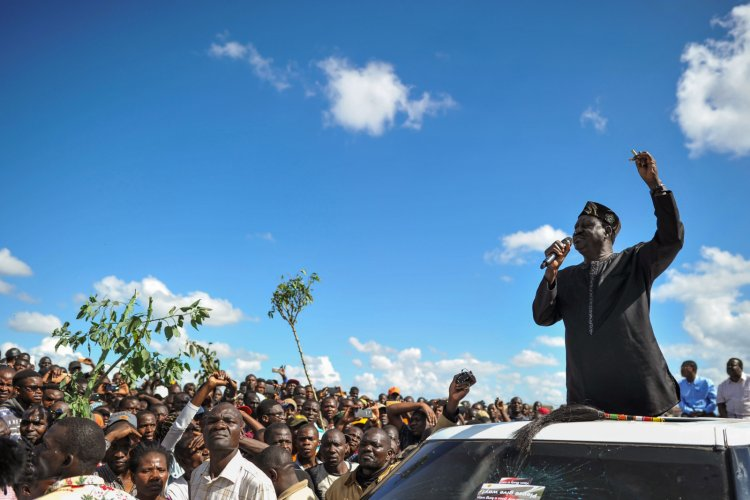 Kenyan opposition leader Raila Odinga