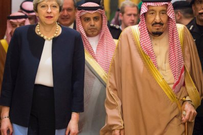 Theresa May and Saudi Arabia King
