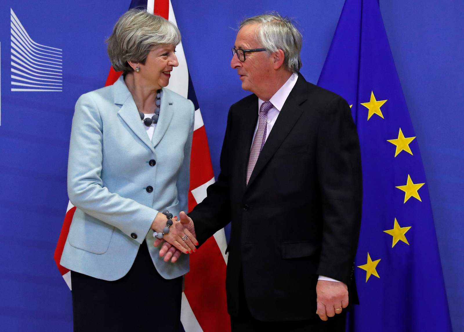 Theresa May Jean-Claude Juncker Brexit Deal