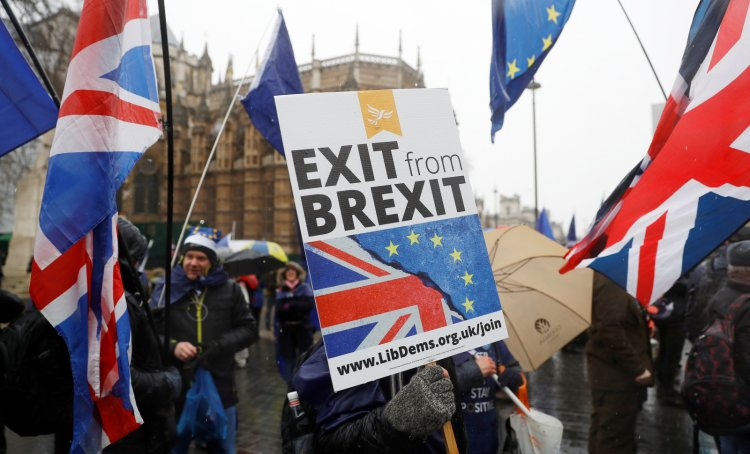 Brexit Protest Westminster