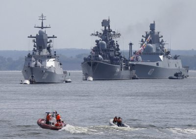 corvette Steregushchy, destroyer Nastoichivy and frigate Admiral Gorshkov