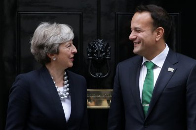 Theresa May and Leo Varadkar